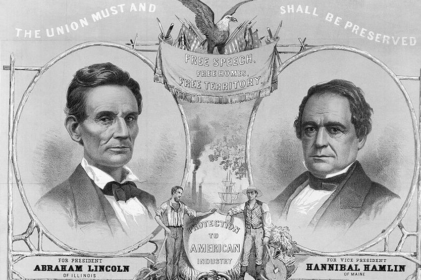 Election poster of Lincoln-Hamlin Campaign of 1860