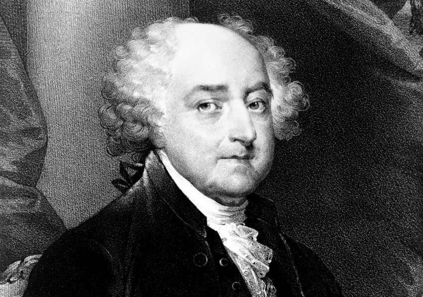 Portrait of John Adams, second President of the United States.